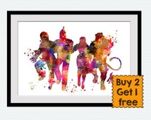 Wizard of Oz watercolor art print Wizard of Oz colorful poster Dorothy art print Home decoration Kids room decor Nursery room wall art W499
