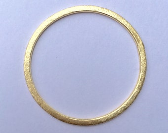 A Pack of Gold Finish, E-coated, Brushed Finish, Handmade Rings/Circles/Connectors, in 7 sizes  (24mm, 30mm, 35mm, 40mm, 45mm, 50mm, & 60mm)