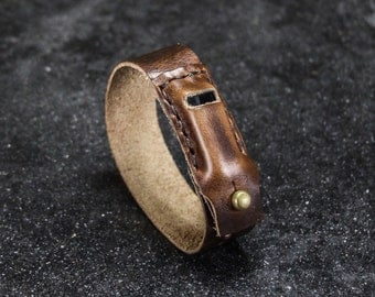Hand Stitched Leather Fitbit Flex Band Bracelet