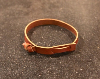 Leather tie Bracelet