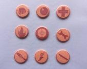 Team Fortress 2 Class Pin Set - Pinback Buttons