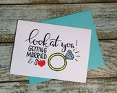 Mature Engagement or Wedding Funny Card