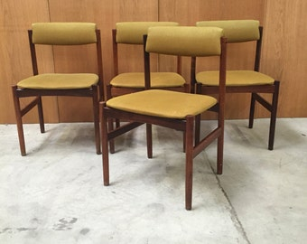 Set of 4 rosewood chairs from the 50's danish design