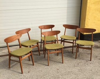 Mid century, 6 farstrup chairs made in denmark