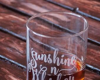 Sunshine n Whiskey Old Fashioned Glass