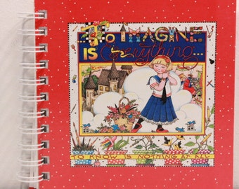 "Mary Engelbreit 6"" by 6"" Bordered Writing Journal. ""To Imagine is Everything"""