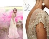 Bohemian wedding dress KALYVIN, boho wedding dress, unique wedding dress, wedding dress, wedding dress vintage, bridal gown, lace wedding