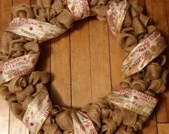 Fall /thanksgiving wreath