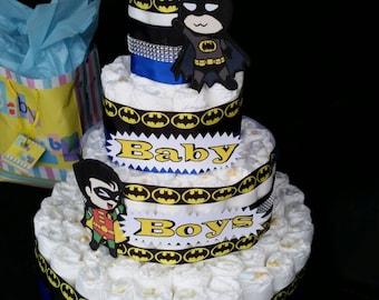 Diaper cake, batman