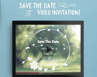 Custom Wedding Video Invitation - Save The Date - Original Invite - Engagement Announcement - Photo Video Montage Slideshow - Green Love