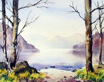 Ullswater daffodils signed print