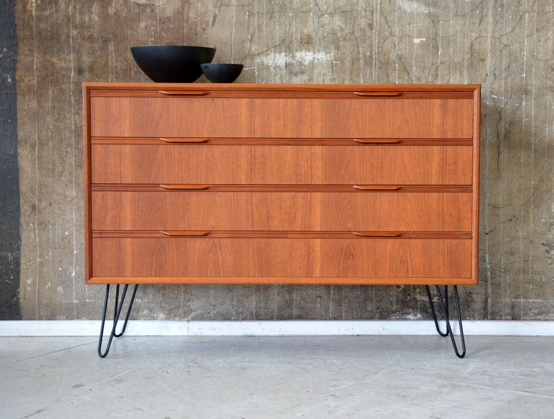 kommode vintage z teak kommode vintage danish furniture. Black Bedroom Furniture Sets. Home Design Ideas