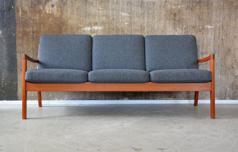60er ole wanscher teak sofa danish design france son 60s. Black Bedroom Furniture Sets. Home Design Ideas