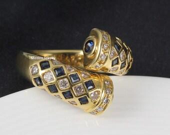 Sapphire Engagement Band