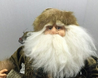 Vintage Santa Hand Crafted with Decorative  Vest and Coat