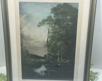 Vintage Print J Dupri Wooded scenery