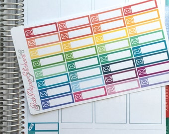 MAIL / ENVELOPE stackable stickers! - set of 32 stickers for your Erin Condren Life Planner!