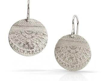 Etruscan Earrings - Sterling Silver