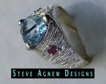 Fancy Cut Blue Topaz Ring