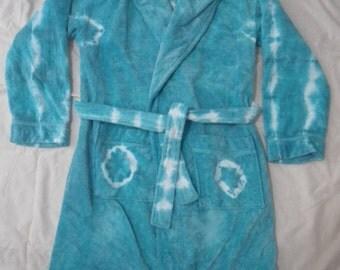 Ladies Tie Dyed bath robe - size S