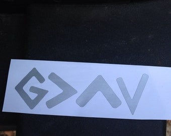 God is greater sticker