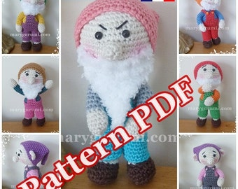 "Pattern, pattern, tutorial of amigurumi, dolls ""the 7 dwarves"""