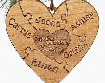 Together We Make A Family Personalized Ornament