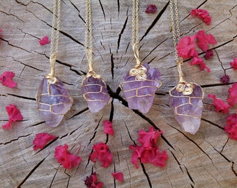 Inner peace& Healing--Amethyst Necklace