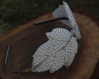 LOUISE - Bridal Leaf Headband