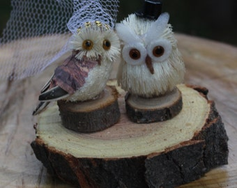 Owl Wedding Cake Topper/ Woodland Wedding Cake Toppers
