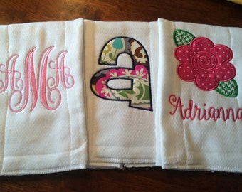 Personalized Burp Clothes
