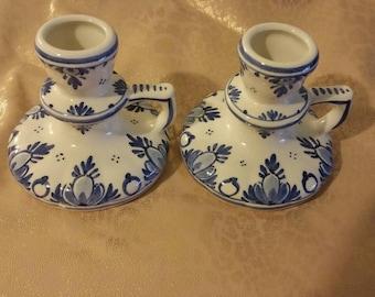 Delft Porcelain Candle holders