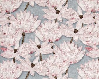 Cotton Japanese Lotus Pattern Fabric