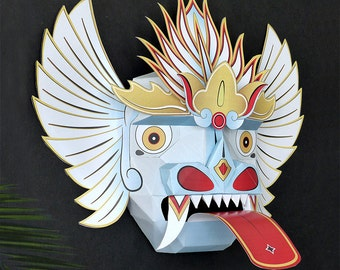Oriental Mask, Balinese Mask, Chinese Mask, Paper Mask, Wall Decoration