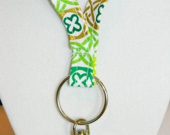Celtic Knot Pattern Fabric Lanyard