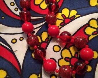 Vintage Lucite Bead Necklace