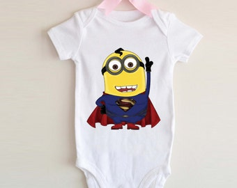 LoNyatanee Minion SuperMan Onesie Baby Onesie Bodysuit Kids Clothing