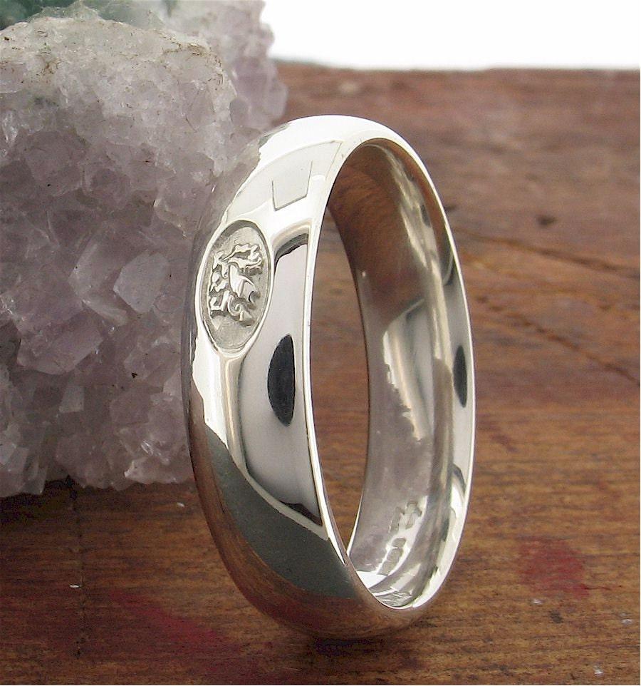Wedding Ring Welsh Dragon Handmade Range In By CumbrianDesigns