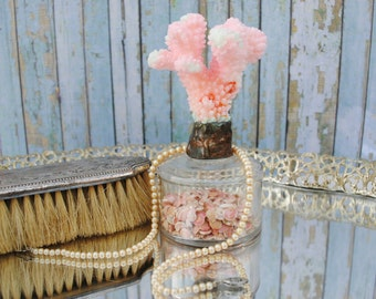 Edwardian 1900s Medical Laboratory Spirit Lamp with soldered Pink Coral