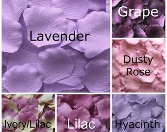 Lavender Silk Rose Petals, 300 petals