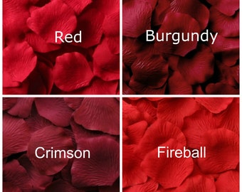 Red Silk Rose Petals, 300 petals