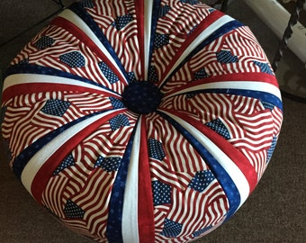 """Patriot fabric pack to make 18"""" Tuffet"""