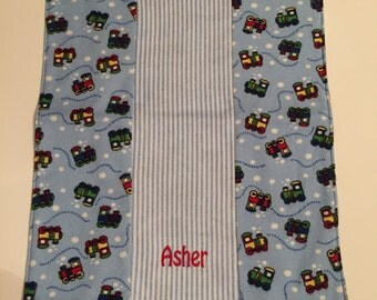 Burp Cloths - Personalized and Customized (set of 2)