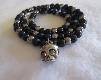 The Obsidian Skull Necklace