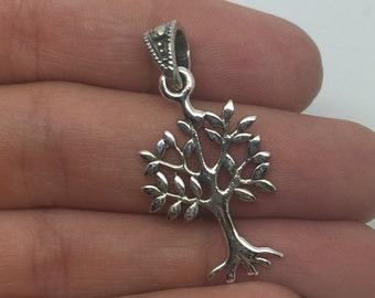 silver tree pendant,silver tree necklace,silver pendant,silver necklace,tree jewelry,silver tree,boho pendant,bohemian pendant,boho chic