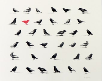"Bird Print ""The Flock'"