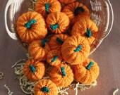 Set of 3 Crocheted Pumpkins