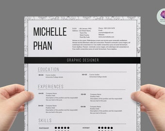modern cv template cover letter template references template creative cv design - Example Cover Letter For A Resume