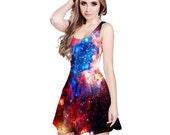 Galaxy Reversible Sleeveless Dress - Supernova, Nebula