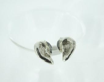 ear earring silver stad
